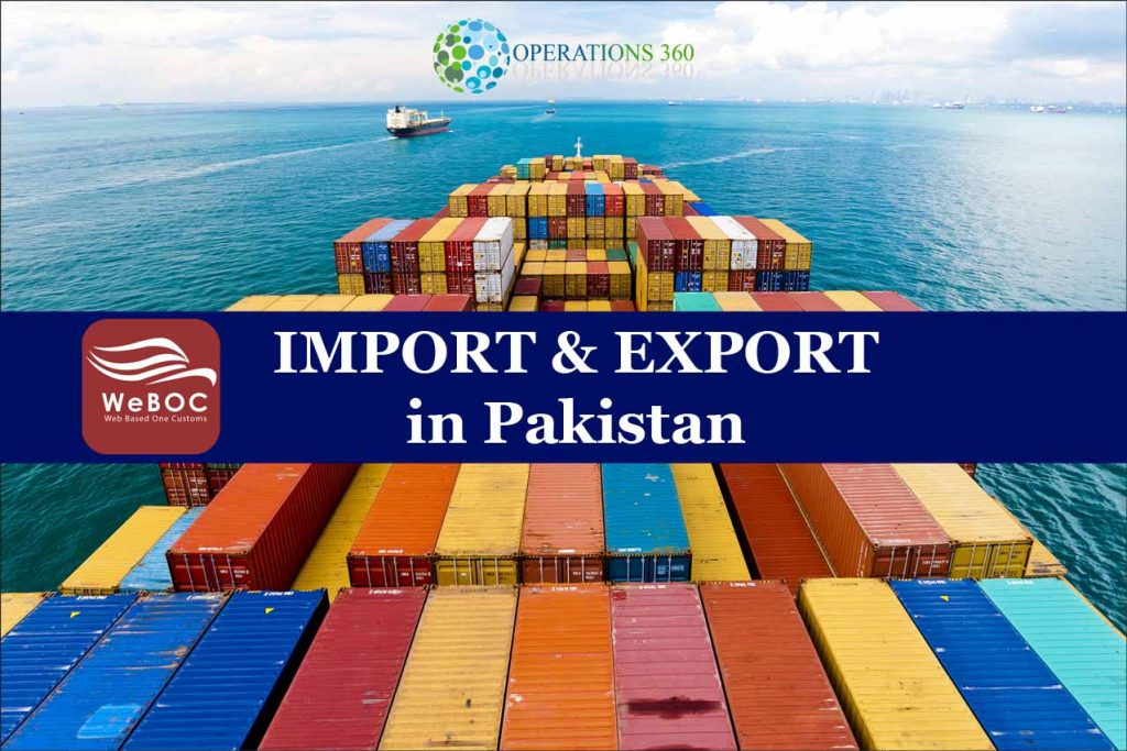Import and export procedures and documentation training with weboc software in paksitan
