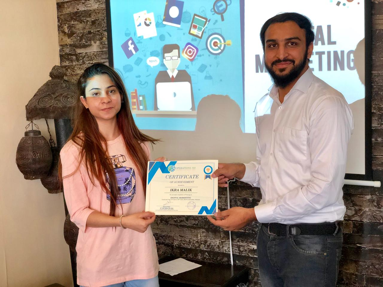 Digital Marketing Certificate distribution in Islamabad